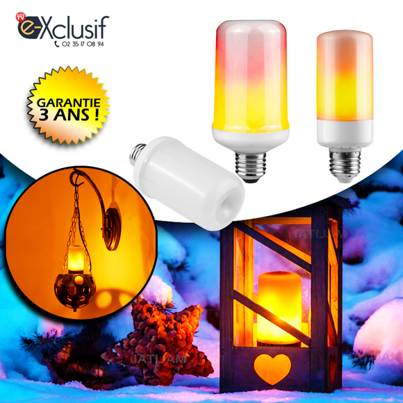 Ampoule LED effet flamme - E-Xclusif