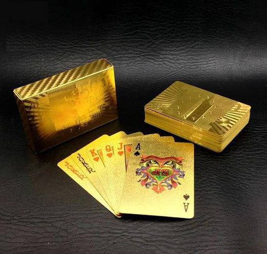 Jeux de carte Or 24 carats - E-Xclusif