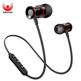 SWZYOR S02 Wireless Headphone Bluetooth V4.1 Earphone Metal Headset Bass Earbuds With Mic Hands-free Calls for Earpods Airpods - E-Xclusif