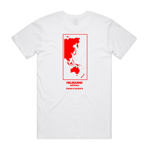 Coordinates Tee White Red Print