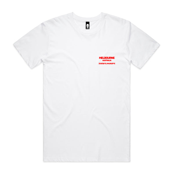 Coordinates Tee White/Red