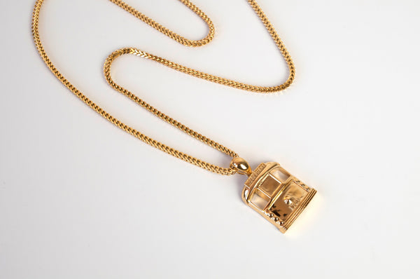 Gold Tram Chain and pendant