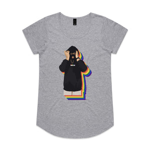 Rainbow Baller Grey Marle Womens Tee