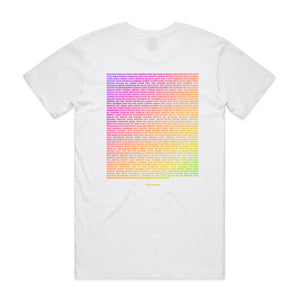 This Is Our House Tee White/Rainbow