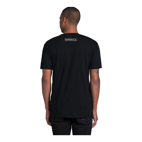 Melbourne Squared Tee Black