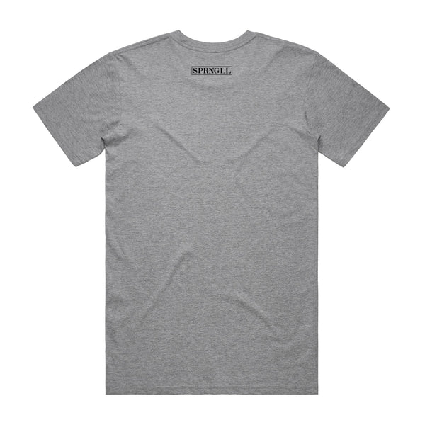 Melbourne Squared Tee Grey Marle