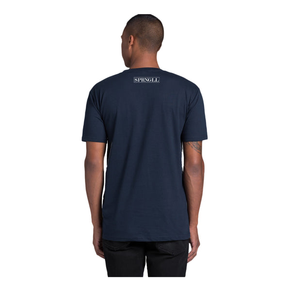 Melbourne Squared Tee Navy