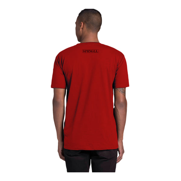 Melbourne Squared Tee Red