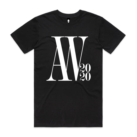 Oversized AW Logo Tee Black