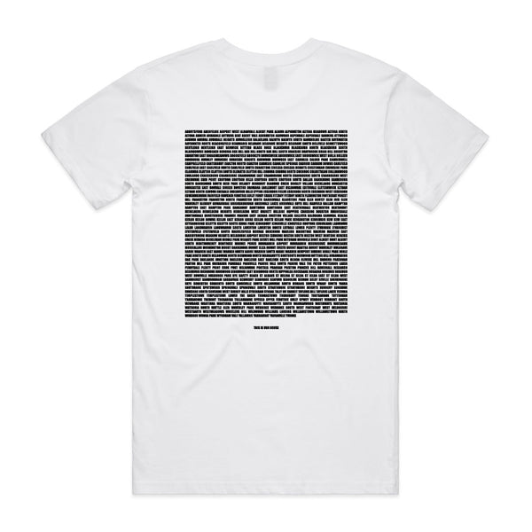 This Is Our House Tee White/Black