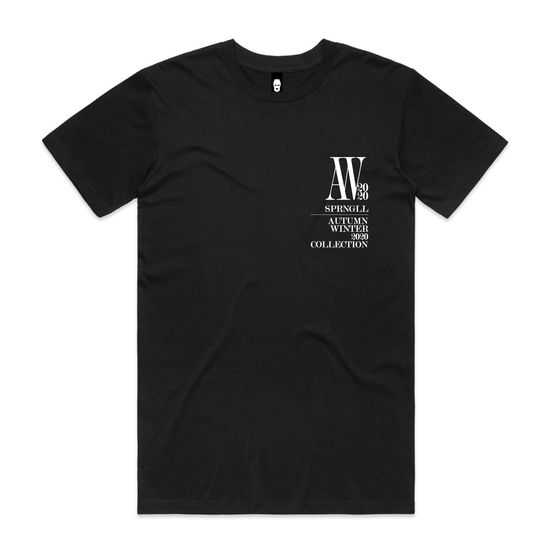 Chest AW Logo Tee Black