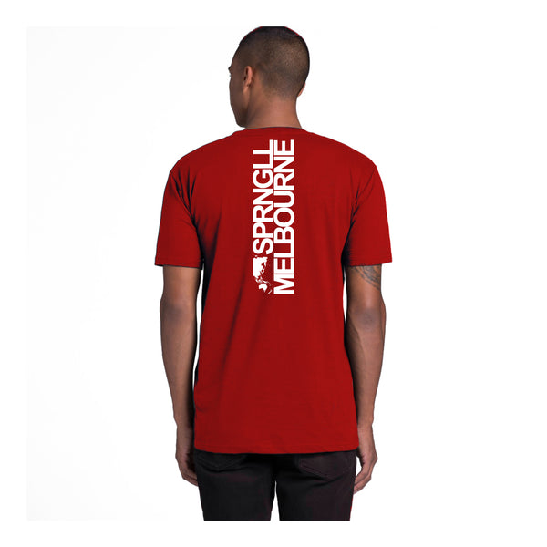 Bold Map Tee Red