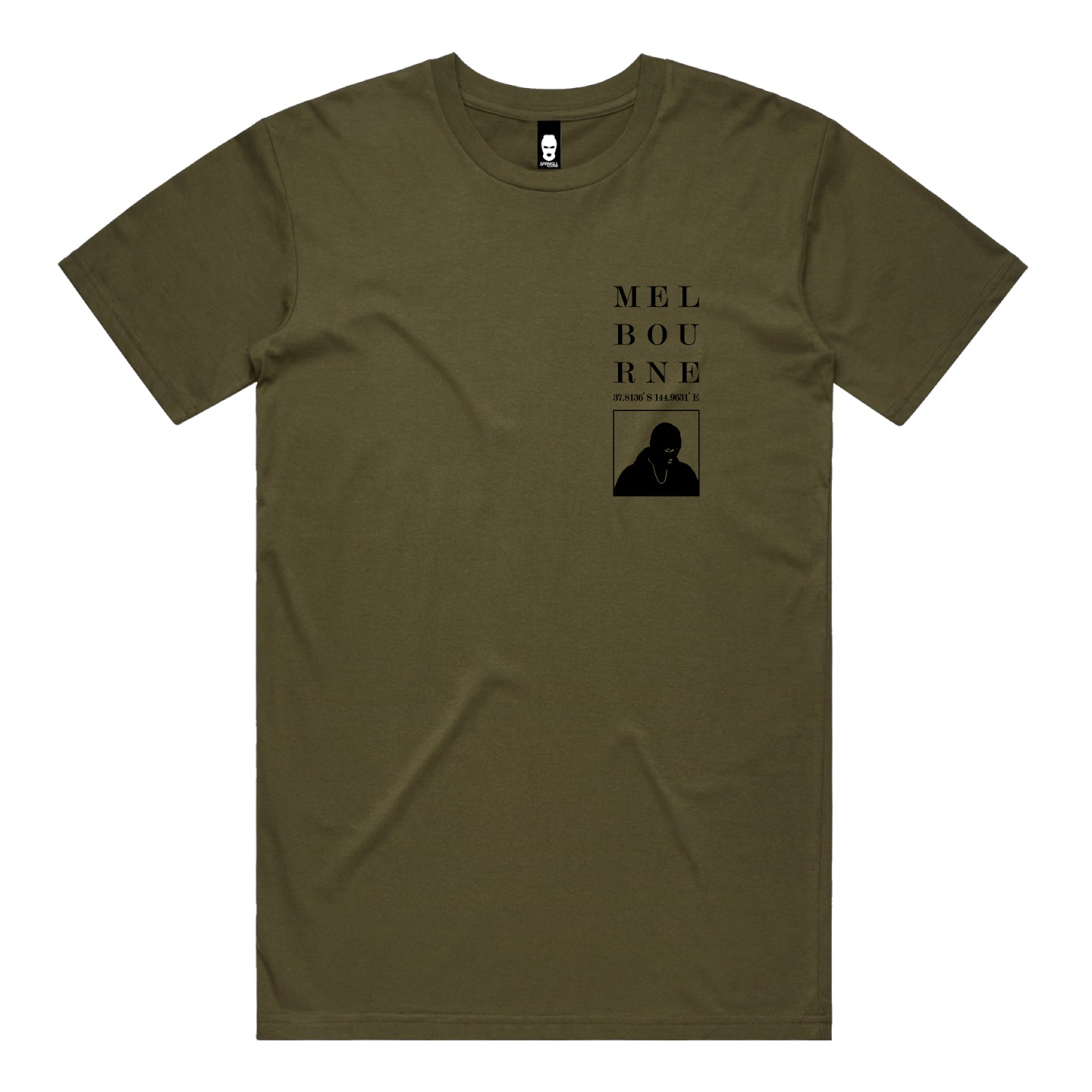 Melbourne Squared Tee Army Green