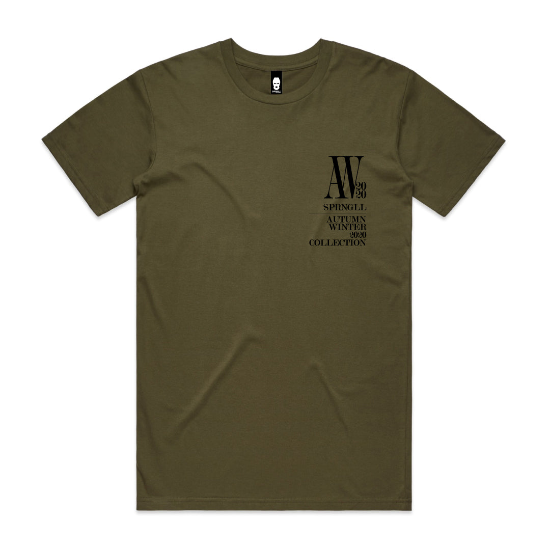 Chest AW Logo Tee Army Green