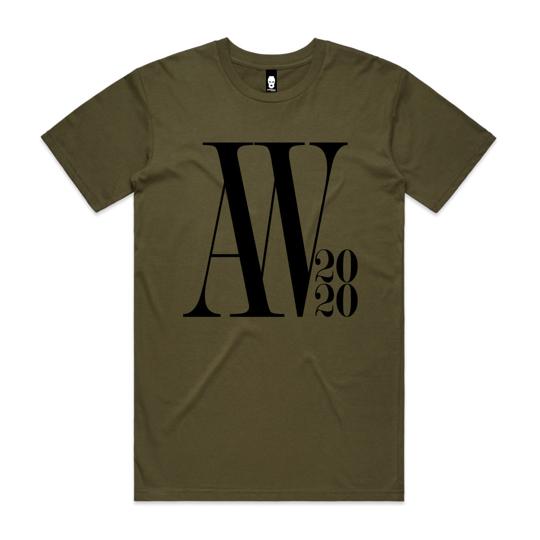 Oversized AW Logo Tee Army Green