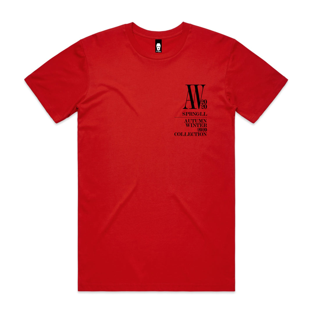 Chest AW Logo Tee Red