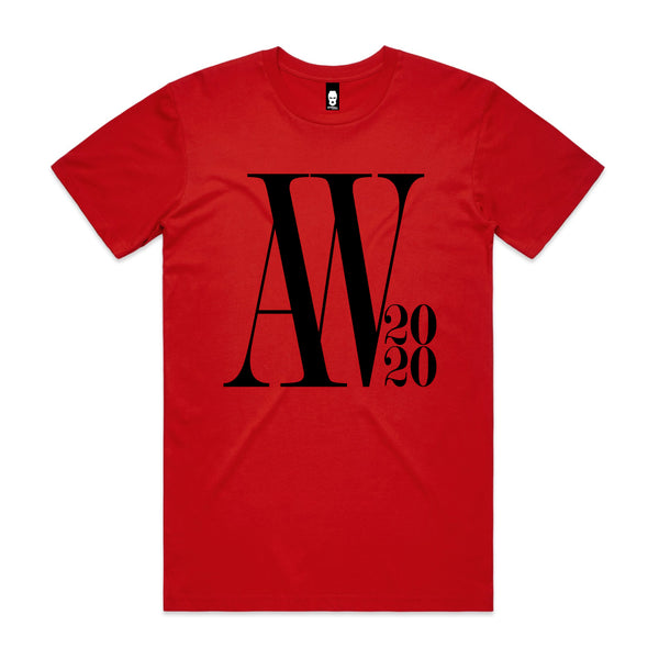 Oversized AW Logo Tee Red