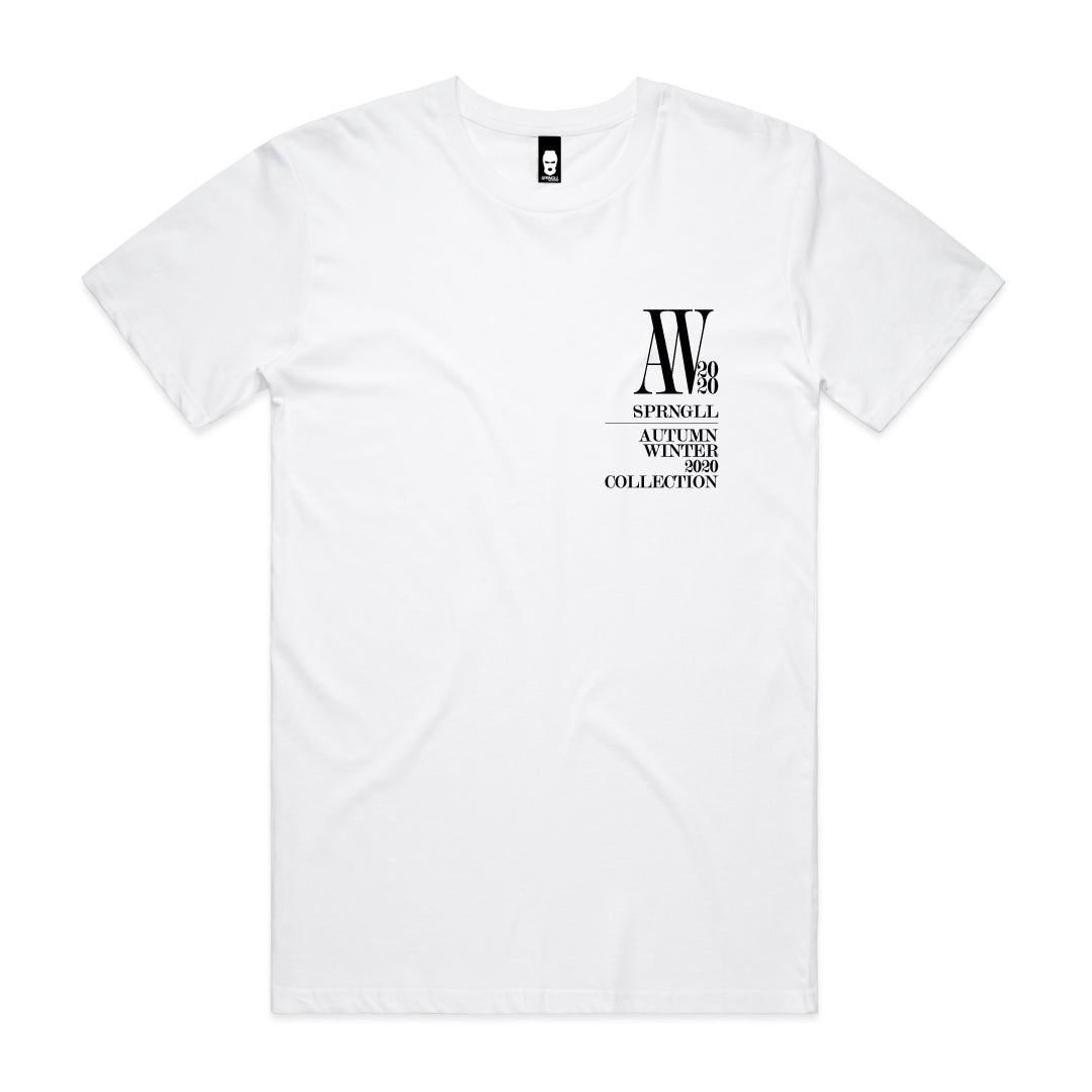 Chest AW Logo Tee White