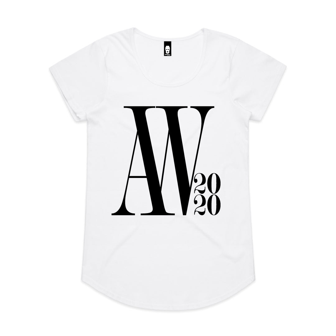 Oversized AW Logo Womens Tee White
