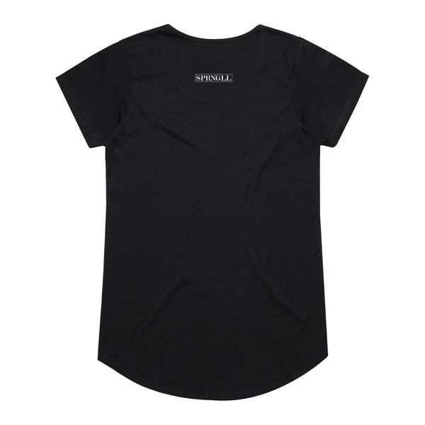 Melbourne Squared Womens Tee Black