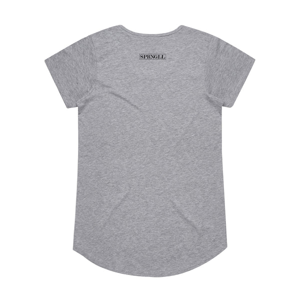 Melbourne Squared Womens Tee Grey Marle