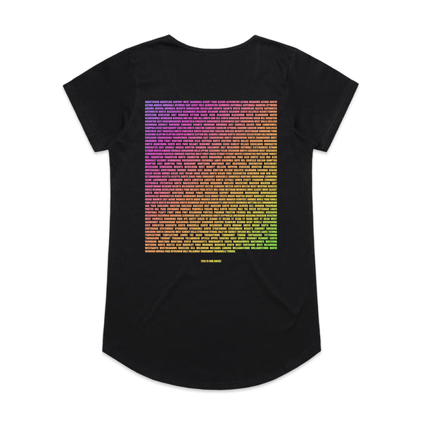 This Is Our House Womens Tee Black/Rainbow