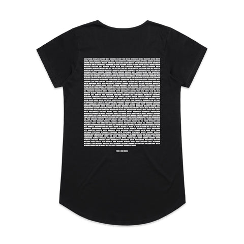 This Is Our House Womens Tee Black/White