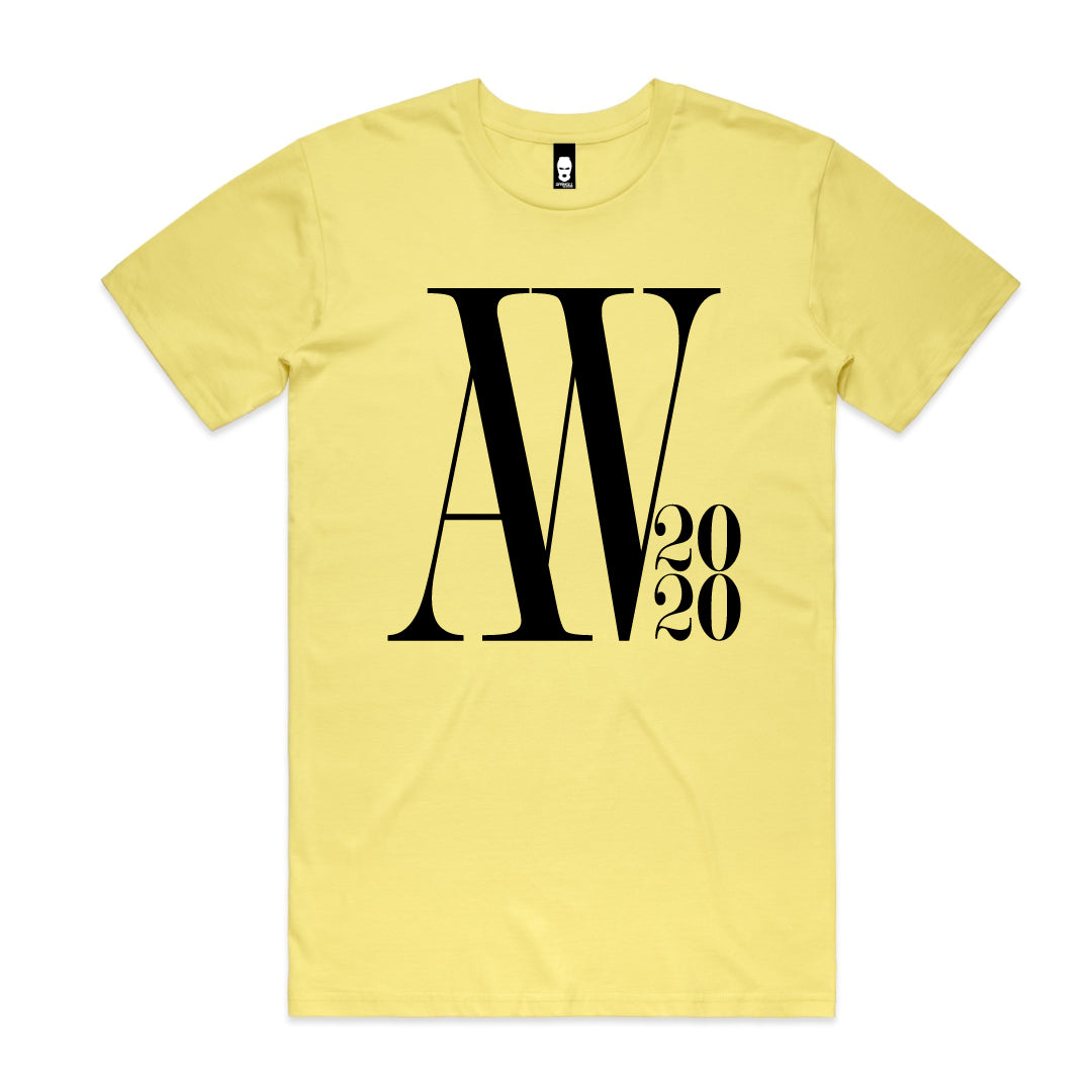 Oversized AW Logo Tee Lemon