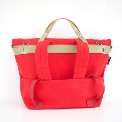 Polygon Sample with slight fault - Red | Handbag, backpack