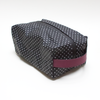 Obsessed Wash Bag - Polka Dot | Burgundy leather - Vel-Oh