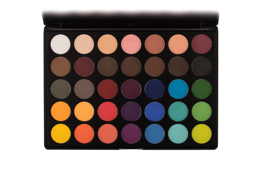 Lick and Lash Beauty City Lights 35 Colour Matte Palette 35Y