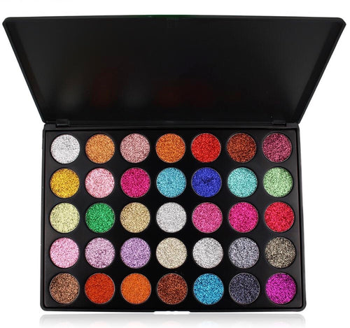 Lick and Lash Beauty 35 Colour Cream Glitter Palette