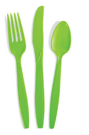 Heavy Duty Cutlery | Knives, Forks, Spoons | 8 sets (Discontinued Color/Packaging)
