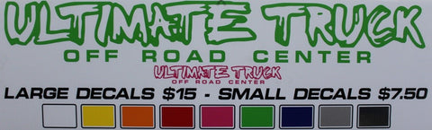 Ultimate Truck Small Decal