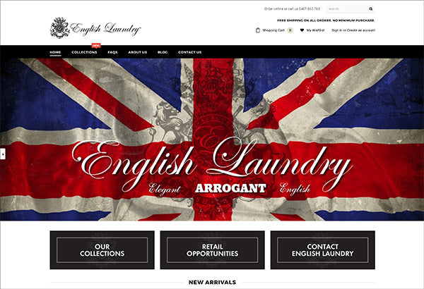 English Laundry Australia Launches Brand New Website