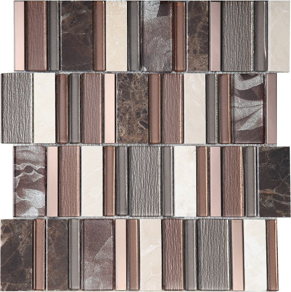 Stripes Cinnamon Mosaic - Discount Tile And Stone Warehouse