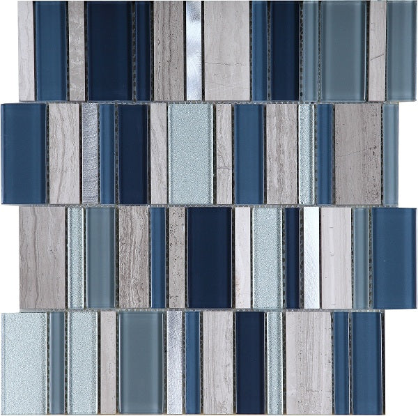 Stripes Cold Mosaic - Discount Tile And Stone Warehouse