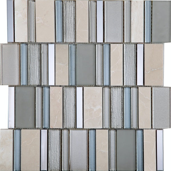 Stripes Champagne Mosaic - Discount Tile And Stone Warehouse