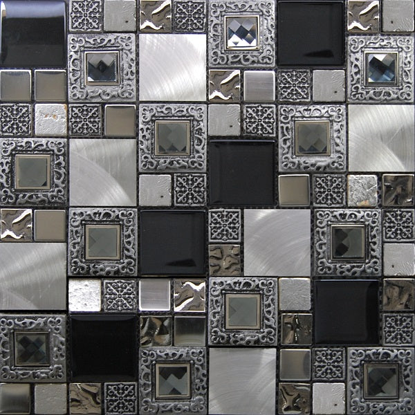 Exclusive Frame Silver Mosaic - Discount Tile And Stone Warehouse