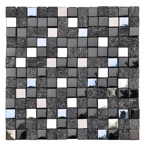 Cubik Black Mosaic - Discount Tile And Stone Warehouse