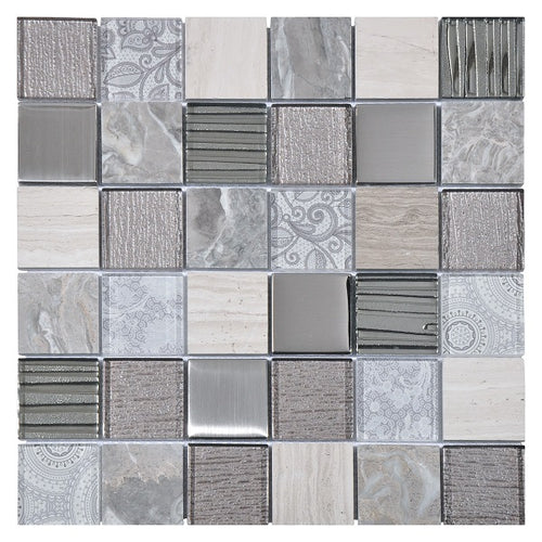 Elements Grey Mosaic - Discount Tile And Stone Warehouse