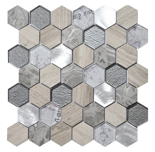 Tour Grey Mosaic - Discount Tile Supplies