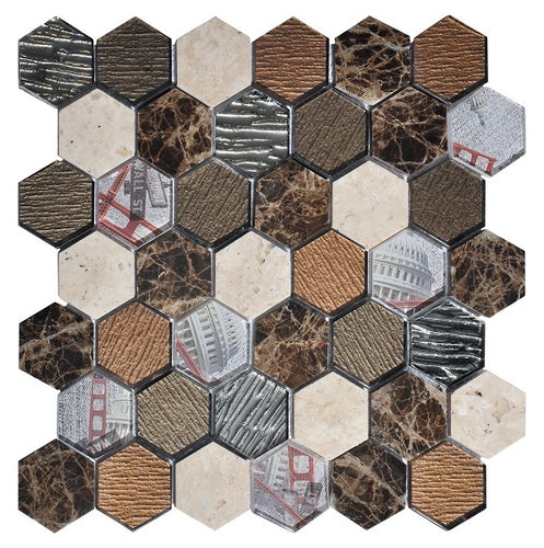 Tour Brown Mosaic - Discount Tile And Stone Warehouse