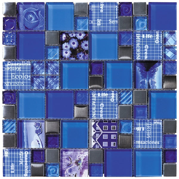Carnaval Blue Mosaic - Discount Tile And Stone Warehouse
