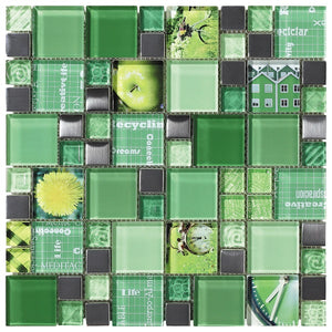 Carnaval Green Mosaic - Discount Tile And Stone Warehouse