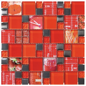 Carnaval Red Mosaic - Discount Tile And Stone Warehouse