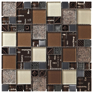 Carnaval Brown Mosaic - Discount Tile And Stone Warehouse