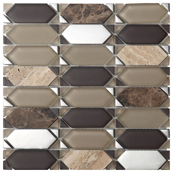 Vintage Brown Mosaic - Discount Tile And Stone Warehouse