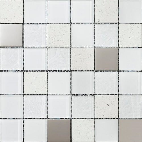 Elements White Mosaic - Discount Tile And Stone Warehouse