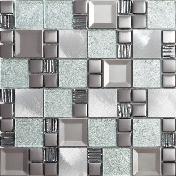 Kaos Grey Mosaic - Discount Tile Supplies